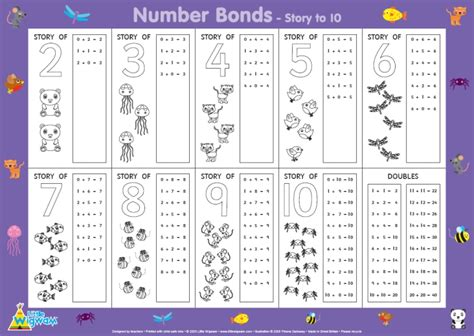 number bonds to 10 worksheets wigwam unknown product 100 sheets for children
