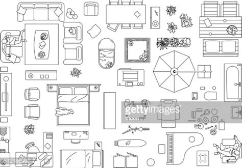 floor plan chair furniture floor plan vector art getty images