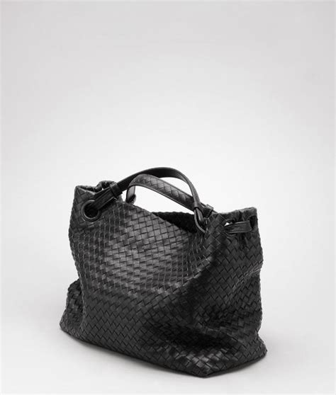 Bottega Nero Intreciatto Napa Tote Bag Handbag Tas Brande bottega veneta 174 nero intrecciato nappa bag 179320v00168175