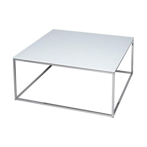 white and silver coffee table buy white glass silver metal square coffee table from