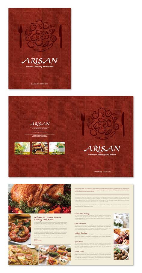 Corporate Event Planner Caterer Brochure Template Event Booklet Template