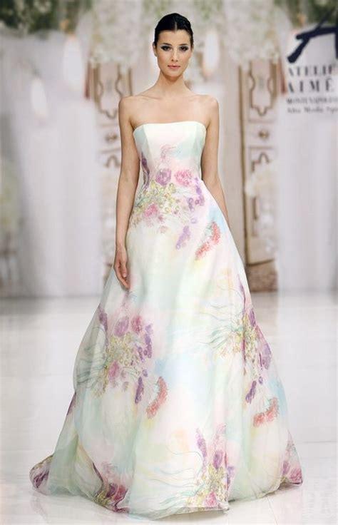 abiti da sposa con fiori colorati abito sposa fiori