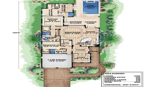 Narrow Lot Cottage Plans by Narrow Lot House Plans Plan W66295we Narrow Lot
