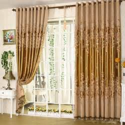Yellow Window Curtains Cortina Blackout Curtain Sheer Embroidered Simple Curtain Patterns Modern Curtains Window Roller