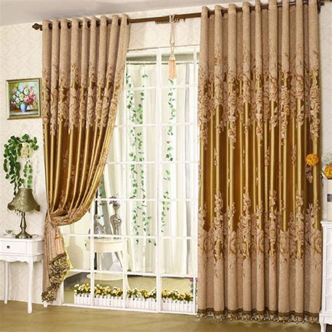 curtains patterns cortina blackout curtain sheer embroidered simple curtain