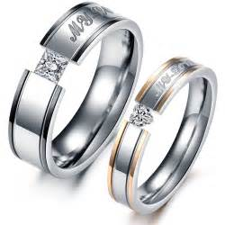 his and wedding band sets aliexpress buy his and hers promise ring sets
