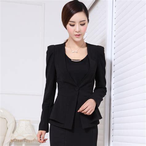 Formal Ladies Blazer Women Jackets Winter Fashion Professional Office Uniform Style Blaser
