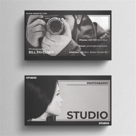 photographer id card template free dramatic photography business card mockup in psd