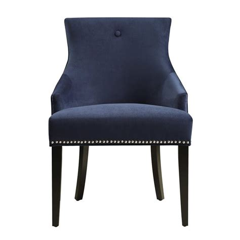 Navy Blue Chair by Pri Accent Chair In Navy Blue Ds 2520 900 393