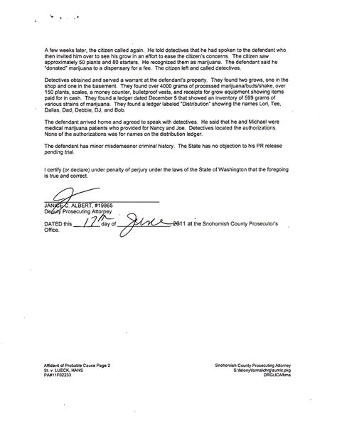 Affidavit Of Probable Cause Animal Law News Abuse Probable Cause Affidavit Template