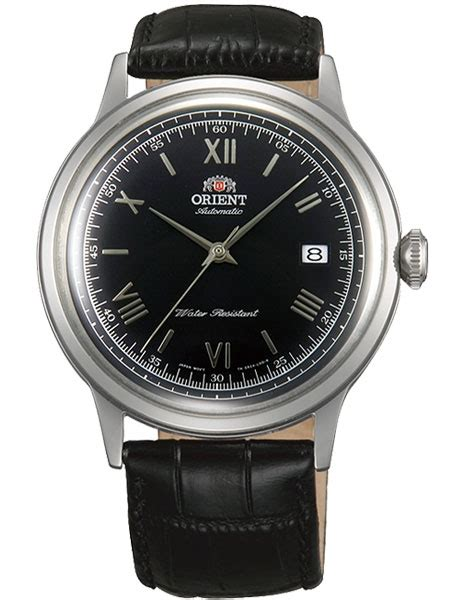 Orient Fune3001b0 Black Silver orient bambino 2nd automatic dress with black silver color ac0000ab