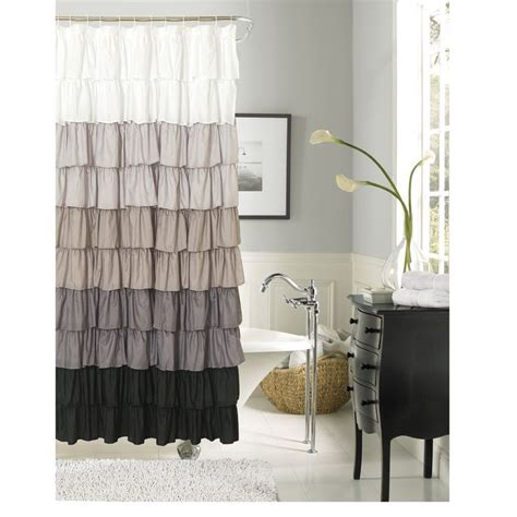 waves of ruffles shower curtain 25 best ideas about ruffle shower curtains on pinterest