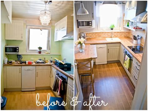 How To Faux Paint Kitchen Cabinets remodelaholic tiny kitchen renovation with faux painted