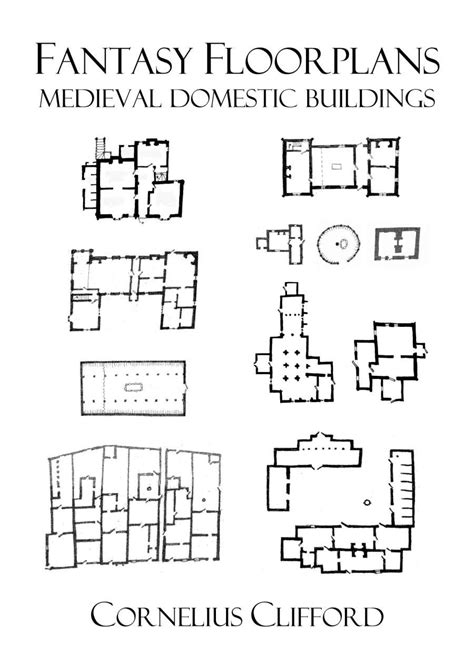 Medieval Floor Plans | medieval domestic buildings fantasy floorplans