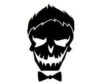 Kaos Skull Joker Lp joker squad skull vinyl decal free by kaylaskraftyshop my etsy store