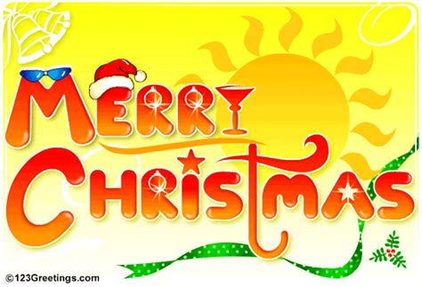 merry christmas  summer ecards greeting cards