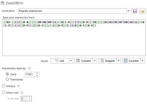 regex pattern generator c the regular expression generator knowledgebase
