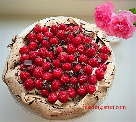 raspberry chocolate raspberry chocolate pavlova feasting is
