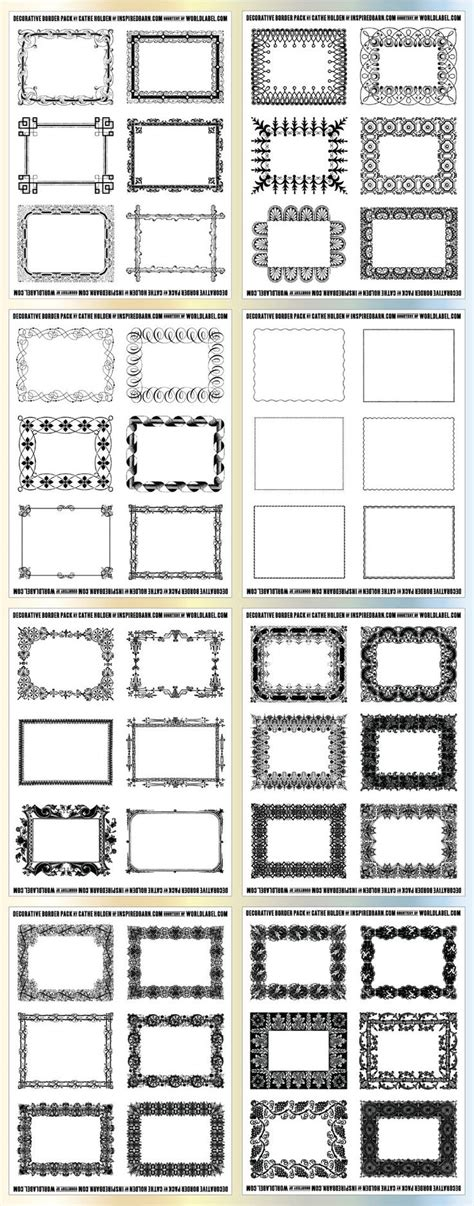 decorative borders for name tags 29 best borders and frames images on pinterest frames