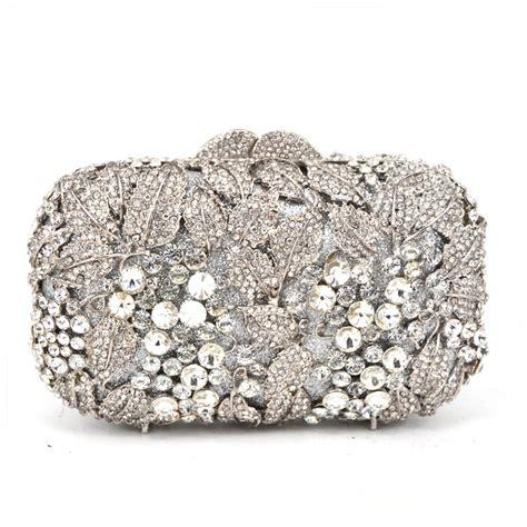 Clutch Cnk Evening Clutch silver rhinestone evening bag white studded diamante designer clutches evening