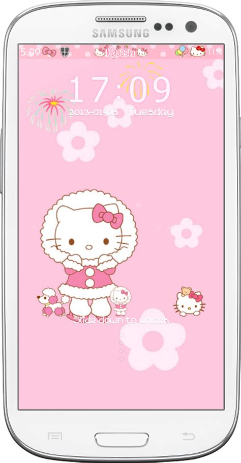 hello kitty locker themes pretty droid themes hello kitty winter go locker