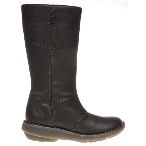 womens black dr martens new authentic wedge boots at