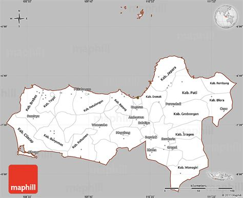 java layout east west gray simple map of central java cropped outside
