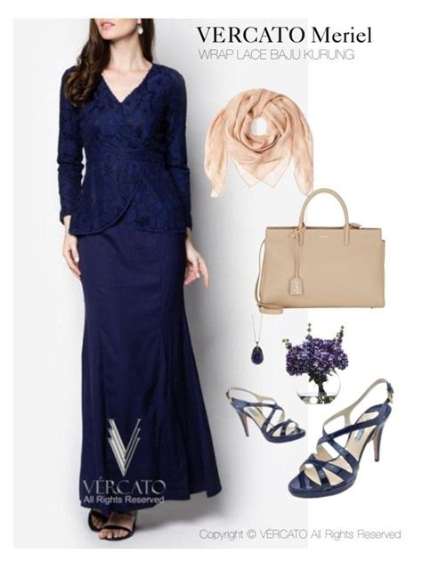 Baju Nikah Navy Blue quot vercato meriel baju kurung moden quot in navy blue and also available in mint green shop now http