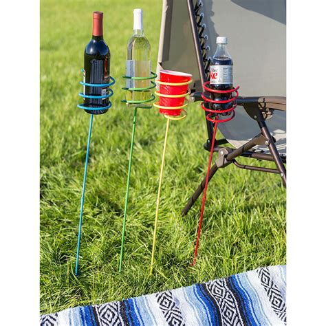 multi colored glass table ls heavy duty multi colored outdoor drink holder in ground