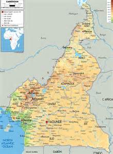 physical map of cameroon ezilon maps