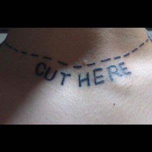 cut here tattoo fan pics fan gets trevor s cut here tat plus snapmatic
