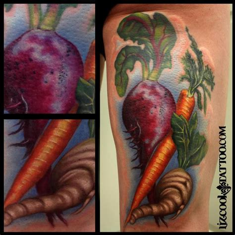 vegetable tattoos liz cook tattoos original veggie
