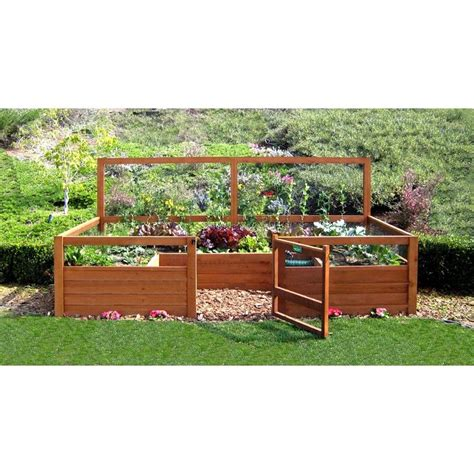 raised garden bed with fence raised garden bed with fence 28 images cheap and easy