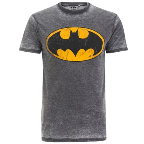 Tshirts Dc 1 dc comics s batman burnout t shirt charcoal grey