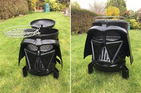 Kitchen Design With Black Appliances Vader Q Dual Purpose Wood Burner And Bbq For Star Wars Lovers