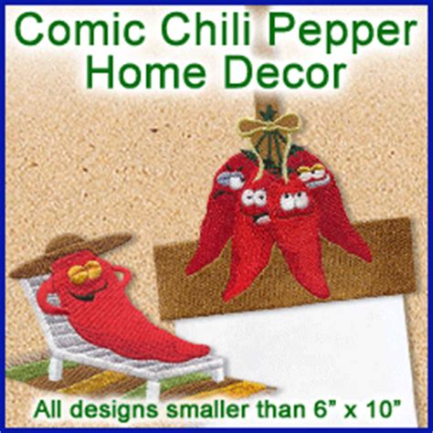 chili pepper home decor machine embroidery designs at embroidery library embroidery library