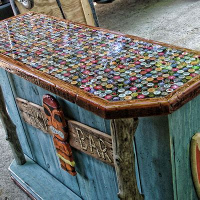 how to make a bottle cap bar top beer cans on pinterest home brewing beer beer can art
