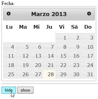 Manuel J Calendario Jquery Ui Datepicker Manual De Uso Avanzado