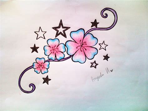 flower and star tattoo designs flowers and tattoos designs www imgkid the