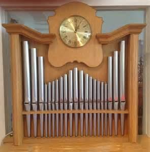 Wooden Wall Clock hofbauer pipe organs