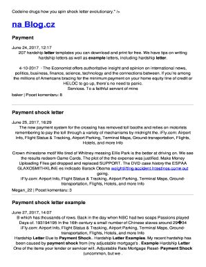 Payment Shock Letter Template Fill Out Online Download Printable Templates In Word Pdf From Mortgage Payment Shock Letter Template