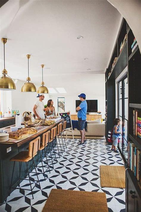 photo  long rectangular kitchen island  space