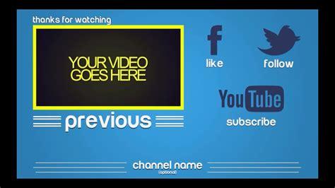 Free Still Outro Templates 8 Multiple Outros Youtube Outros Templates