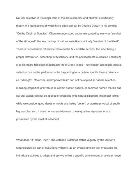 Charles Essay by Selection By Charles Darwin Sle Paper Essay