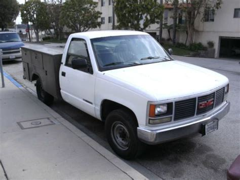 how does cars work 1993 gmc 2500 head up display buy used 93 gmc 2500 work truck utility bed runs good work shop on wheels in san pedro
