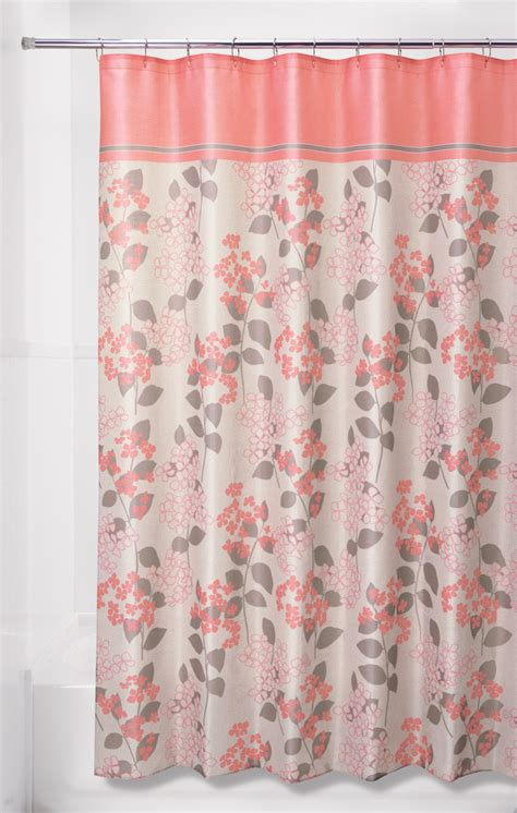 sears shower curtain colormate floral shower curtain