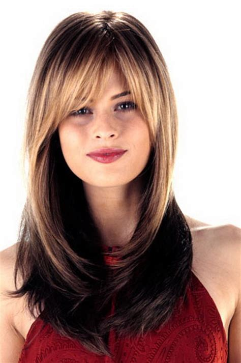 hair styles with bangs and layers around the face long hairstyles layered around face
