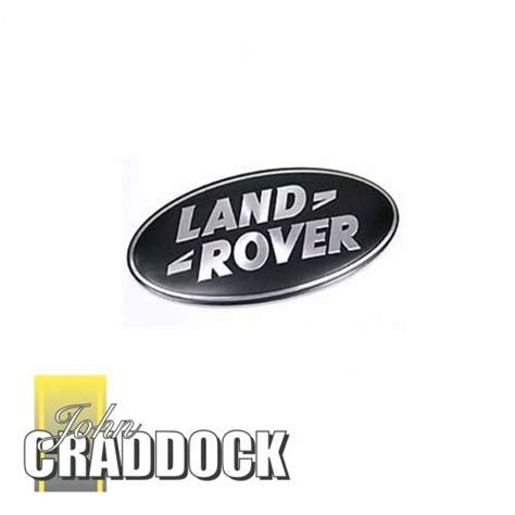 land rover logo black dag500160 land rover logo grill badge black silver