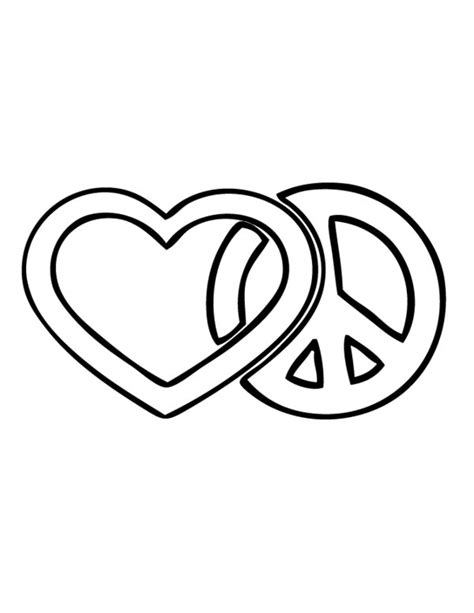 color for peace and peace sign coloring page printable thingkid