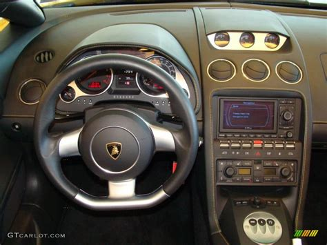 Lamborghini Gallardo Dashboard 2007 Lamborghini Gallardo Spyder Nero Perseus Dashboard